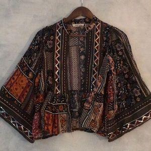 LF boho embellished cardigan